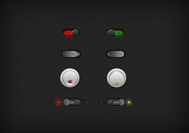 download free psd on and off toggle buttons