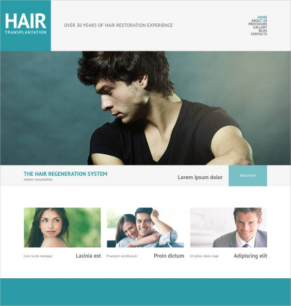 fully responsive salon wordpress theme