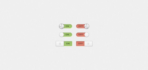 On and Off Switches and Toggle PSD Design