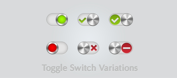 Toggle Switch Buttons Variations