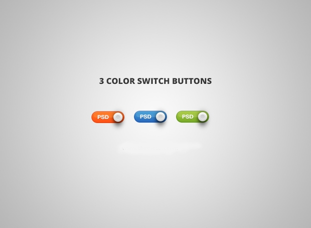 colored toggle switch buttons psd