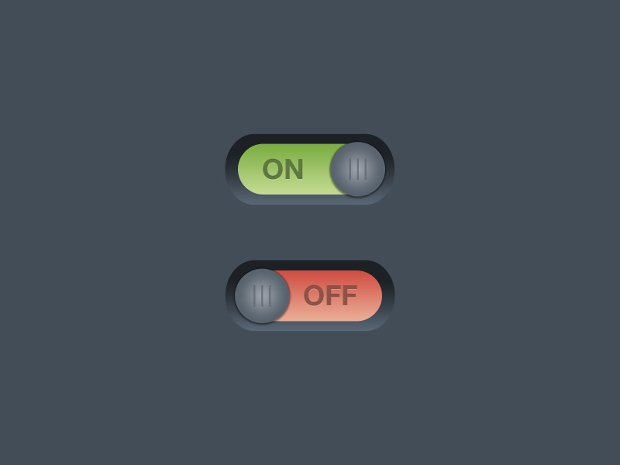 simple on and off buttons