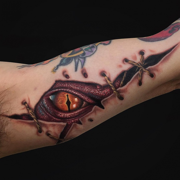 Smaug Dragon Eye Tattoo