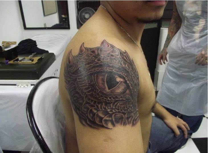 celtic dragon eye tattoo