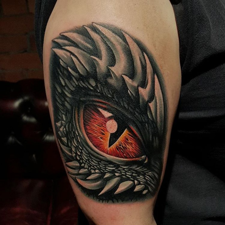 21 Dragon Eye Tattoo Designs Ideas Design Trends Premium Psd