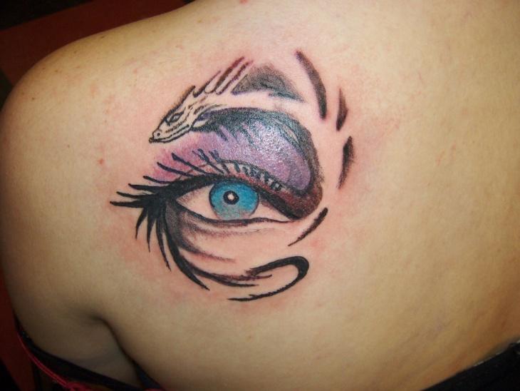 Tribal Dragon Eye Tattoo