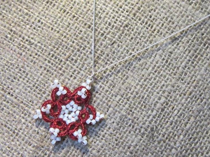 Beaded Snowflake Pendant