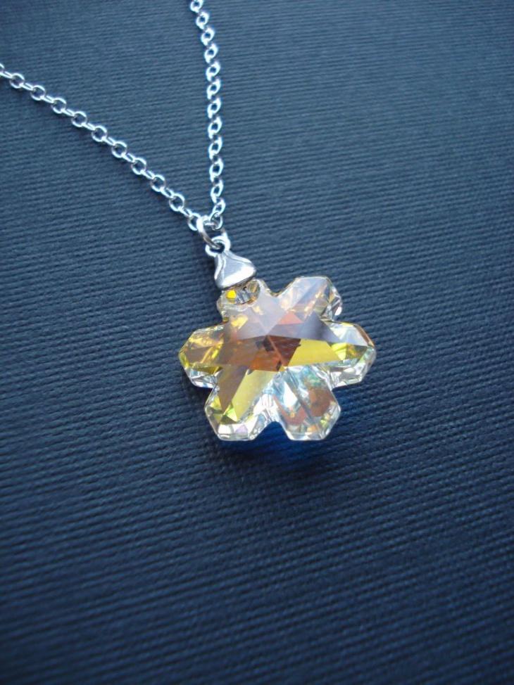 Snowflake Crystal Pendant