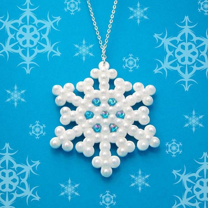 Turquoise Snowflake Pendant Design