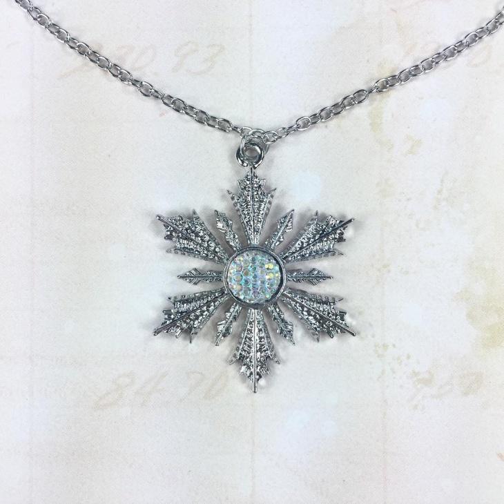 Frozen Inspired Snowflake Pendant