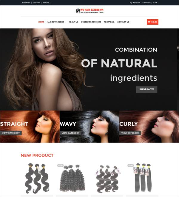 fashion hair salon wordpress template