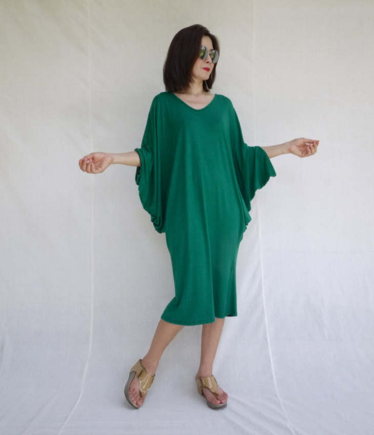 casual batwing dress idea
