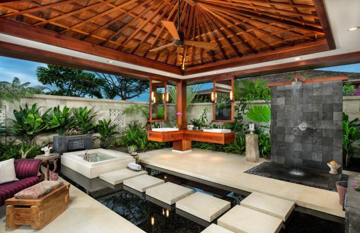 tropical bathroom idea