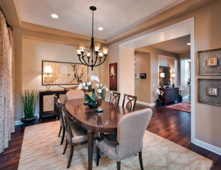 asian dining room interior idea