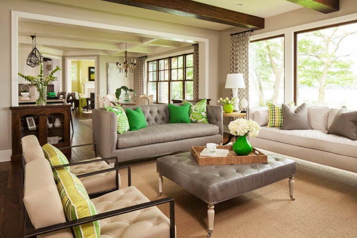 Transitional Living Room Sofa Design