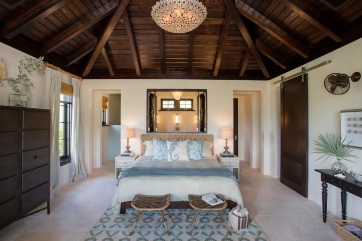 cozy bedroom chandelier design