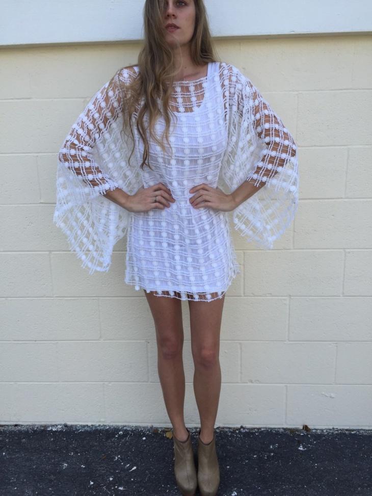 batwing mini dress design