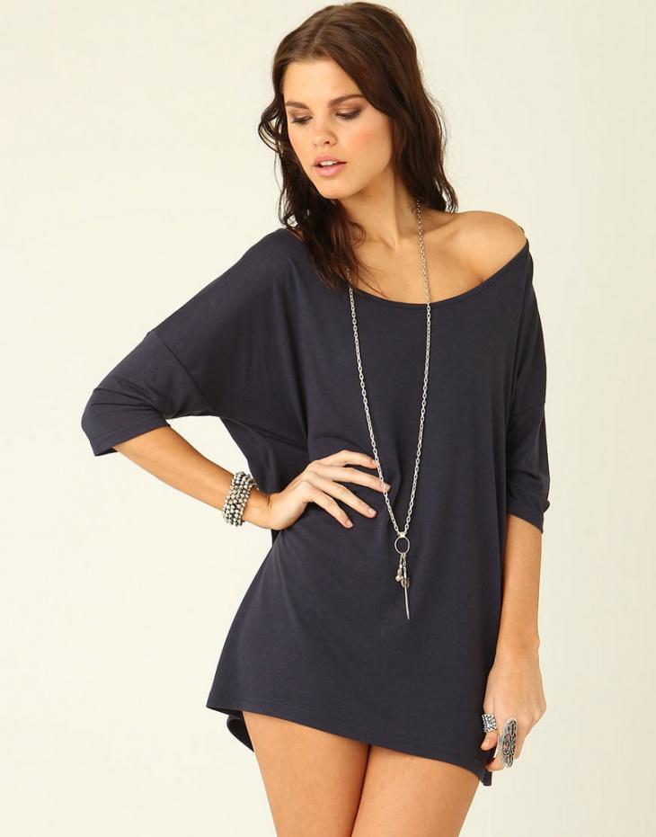 navy blue batwing dress design