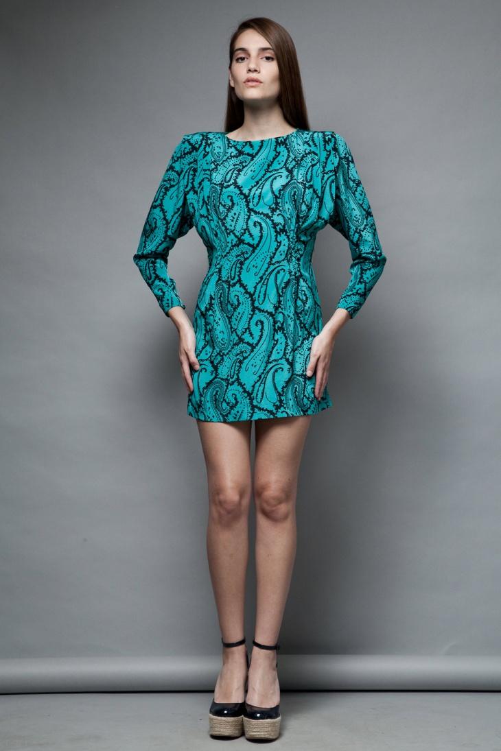 Batwing Long Sleeve Dress Design