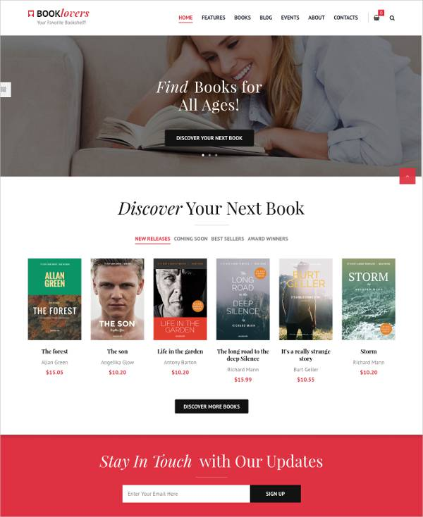 Book Shop WordPress Theme.