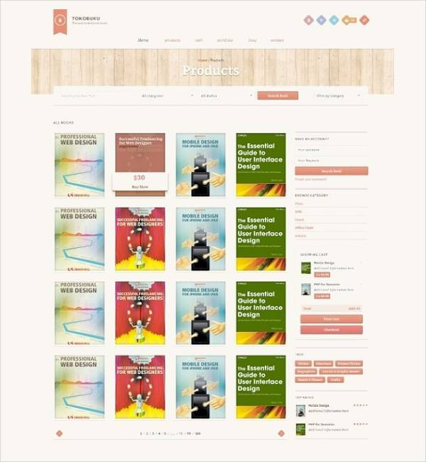 Free Book Store WordPress Theme