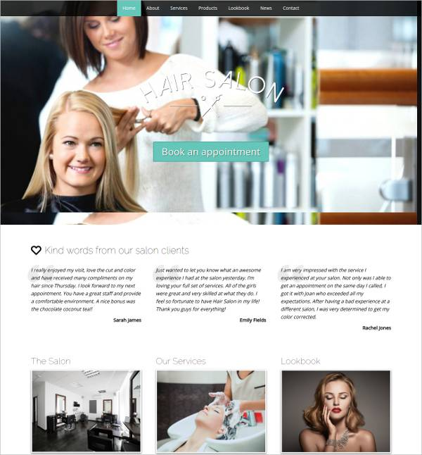 professional hair salon wordpress theme1