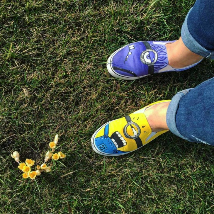Minion Cartoon Sneakers