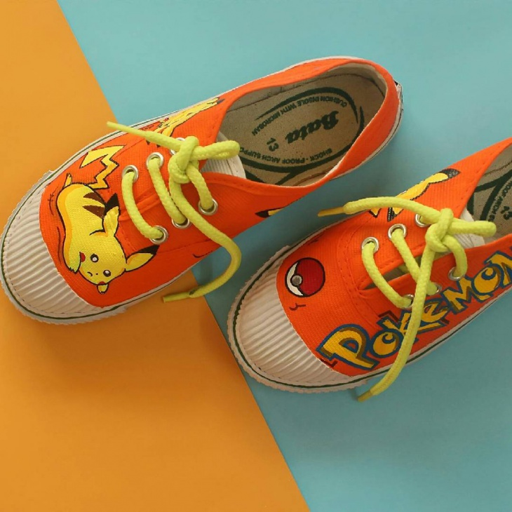 Orange Color Pokemon Shoes