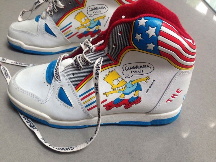 Simpsons Themed Sneakers