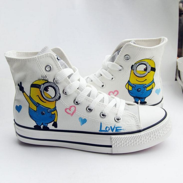 Canvas Cartoon Sneakers Idea