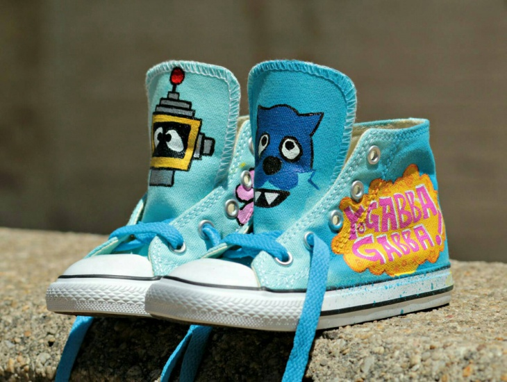 Blue Color Kids Cartoon Shoes