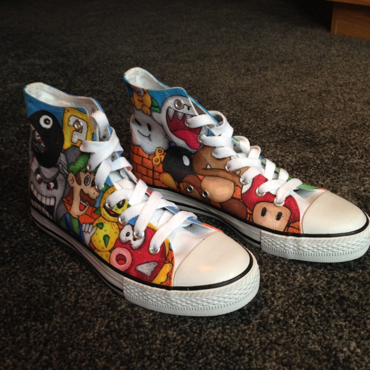 Super Mario Shoes Design