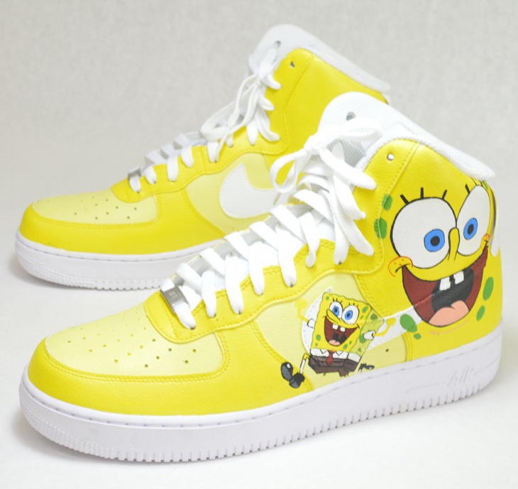 Nike High Top Cartoon Shoes