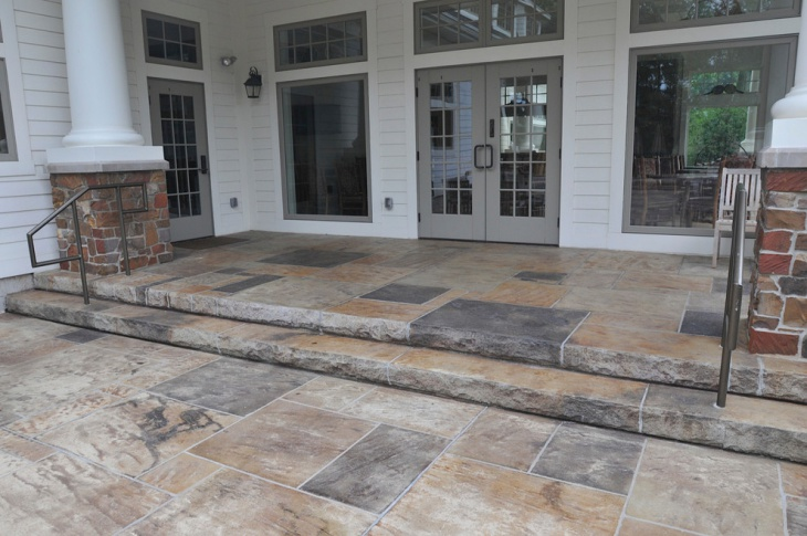 Rustic Step Stamped Patio