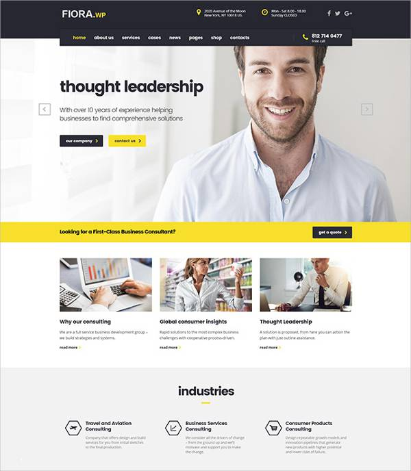 ccounting business wordpress template