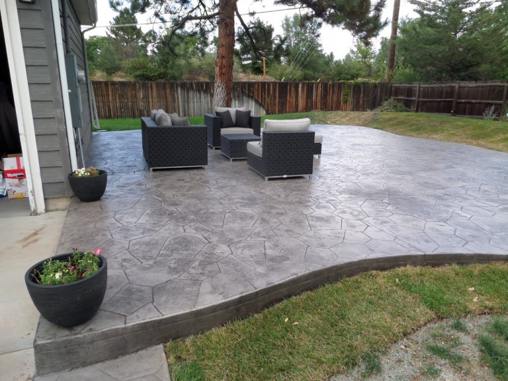 Spacious Stamped Patio