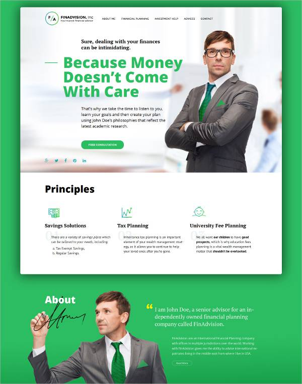 Accounting Adviser WordPress Theme