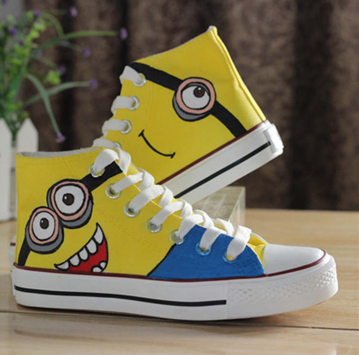 Hand Painted Minion Sneakers