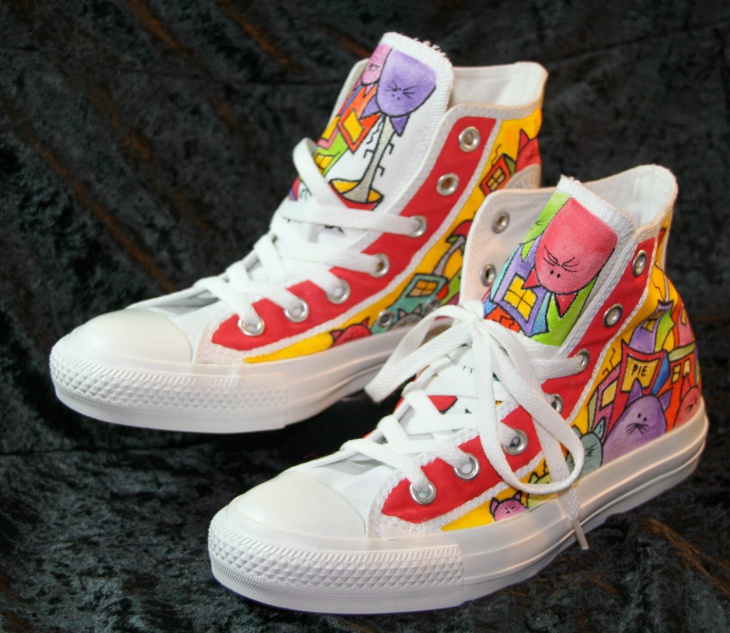 Colorful Cartoon Shoes Design