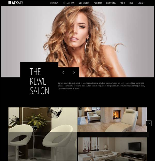 excellent hair salon wp responsive template