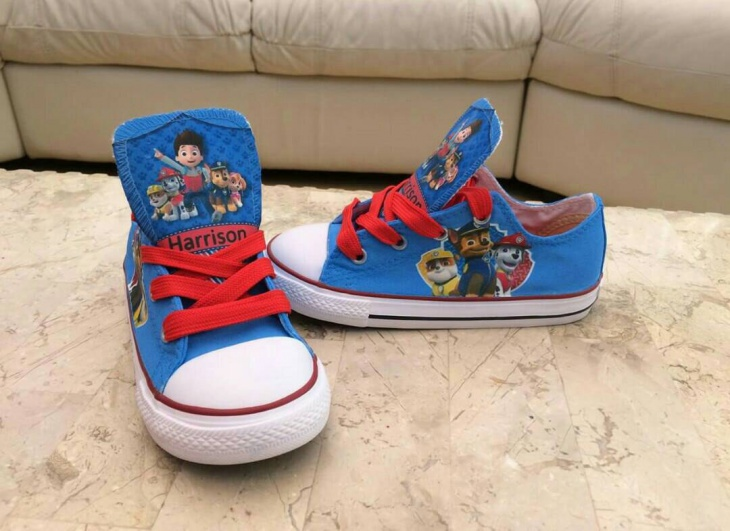 Pretty Children Cartoon Sneakers