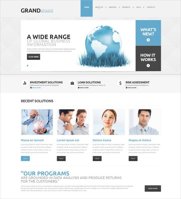 financial consultant wordpress theme1