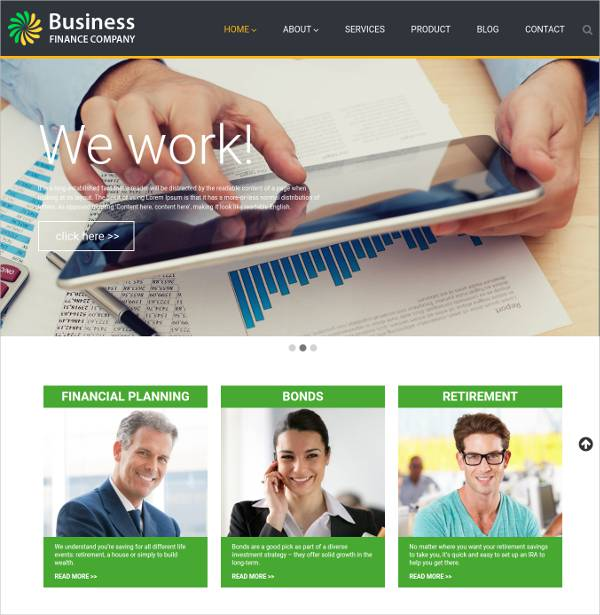 Responsive Finance Consulting WordPress Theme