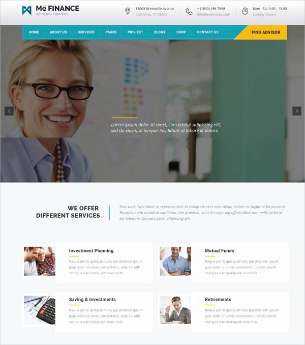 One Click Demo Accounting Business WordPress Theme