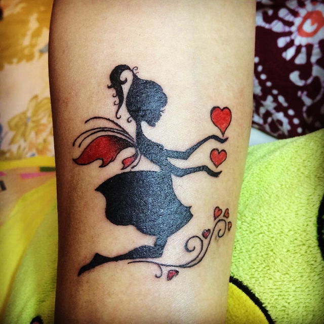 Love Tinkerbell Tattoo Design