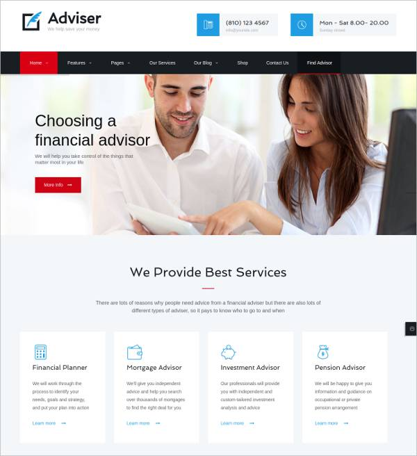 Adviser WordPress Theme