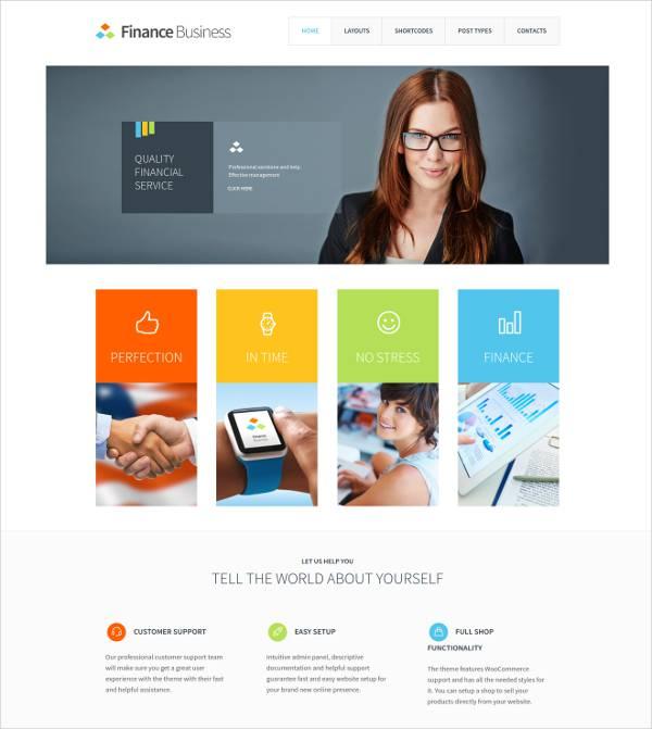 Finance Business WordPress Theme