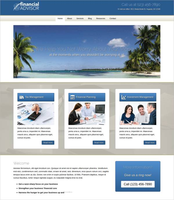 Professional Finance Business WordPress Theme