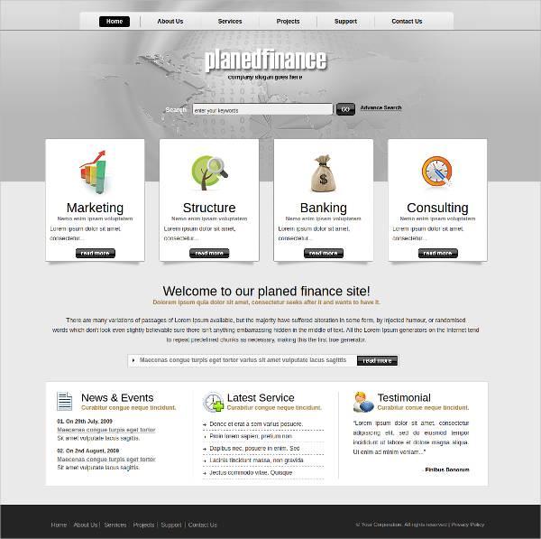 UntFinance Based WordPress Themeitled