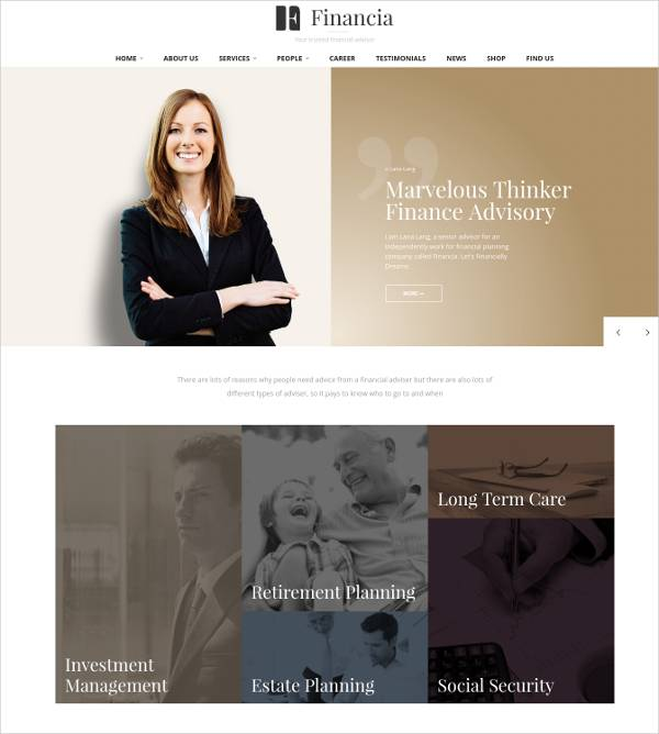 customised business finance wordpress template1